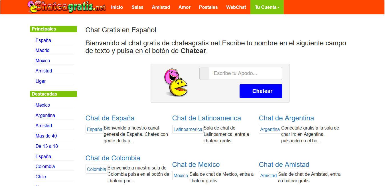 Chat de paginas web Las Mejores